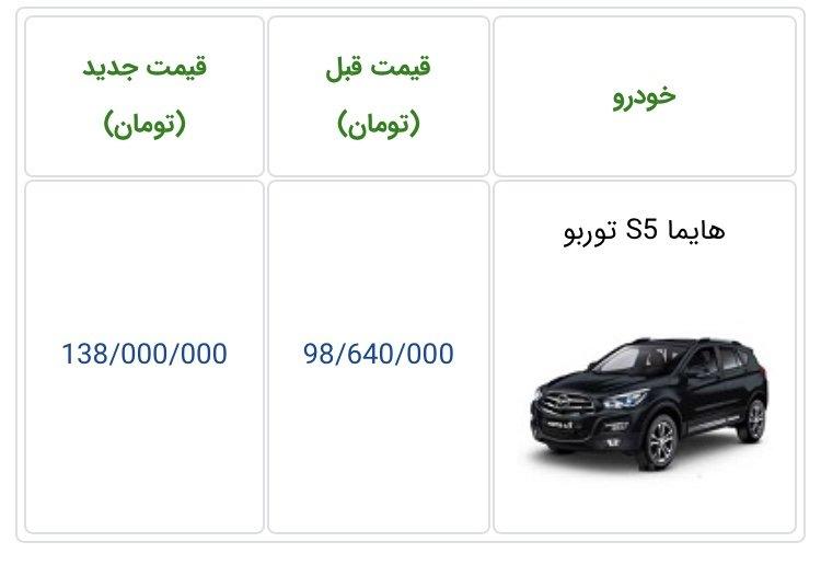قیمت هایما S5