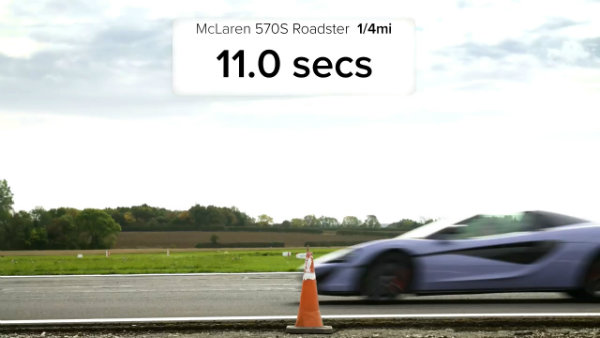 AMG GT C vs Audi R8 vs McLaren 570S vs BMW i8 - Roadsters ROOF, DRAG and ROLLING RACE (10)