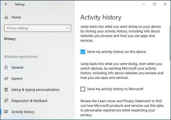 مایکروسافت بر خلاف میل کاربران تاریخچه فعالیت را به سرور خود ارسال می کند