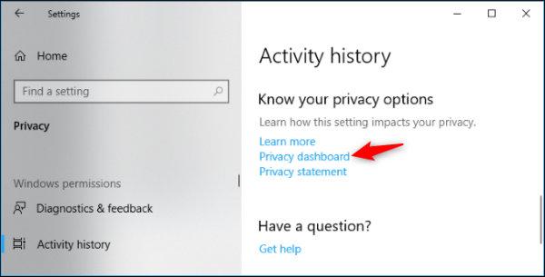 حریم خصوصی ویندوز 10