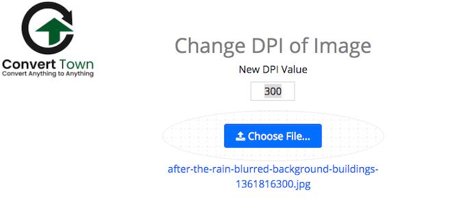 تغییر DPI عکس