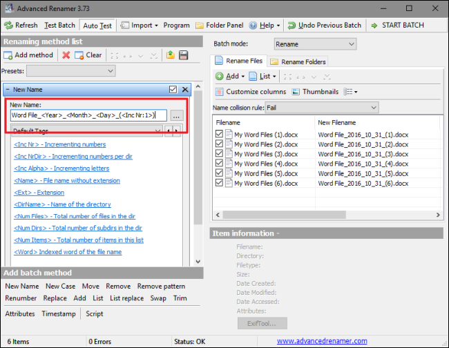 تغییر نام دسته جمعی فایلها در ویندوز