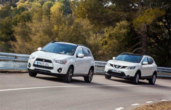 Fotos Nissan Qashqai 1.5 dCi 4x2 vs Mitsubishi ASX 180 DI-D 2WD
