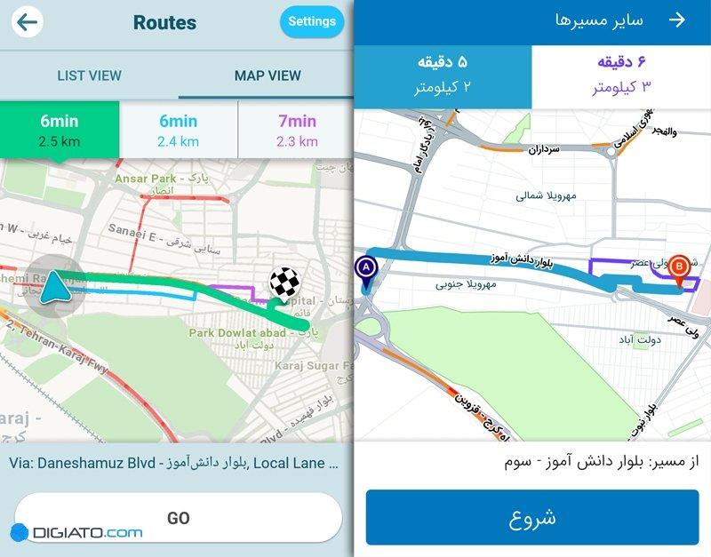 مقایسه مسیریاب نشان و ویز
