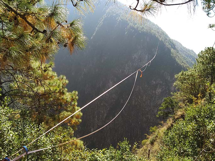 طولانی ترین مسیر طی شده با چشم بند روی طناب