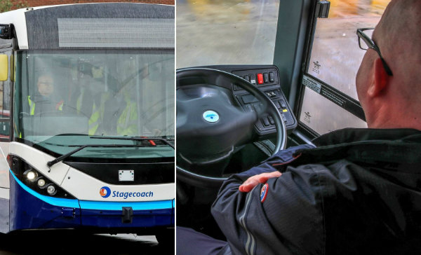 UK's first driverless bus tested in Manchester (1)