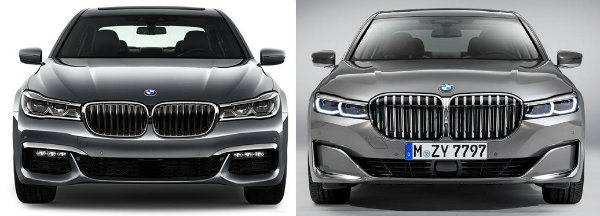 bmw 7 series 2018 vs 2020