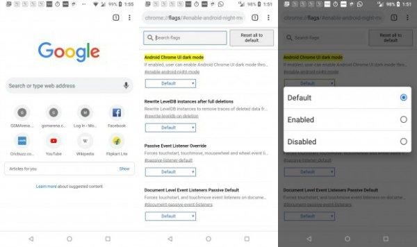 اضافه شدن حالت تاریک به نسخهی اندروید گوگل کروم - 5