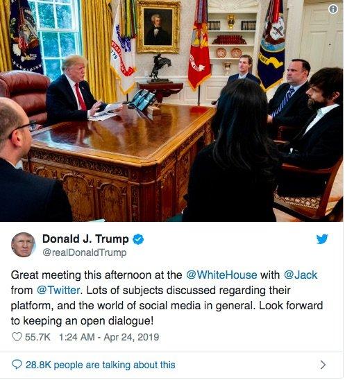 دیدار ترامپ و مدیرعامل توییتر