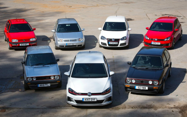 vw golf all generations