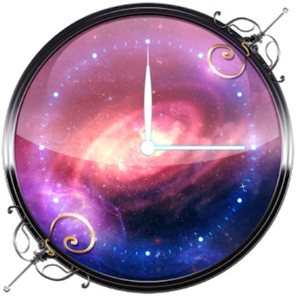 3D Galaxy Analog Clock