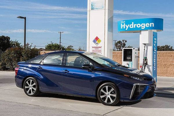 Toyota Mirai hydrogen fuel station
