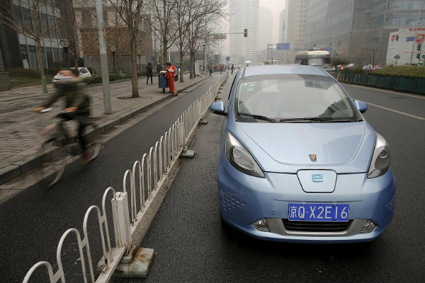 Electric car boom in China