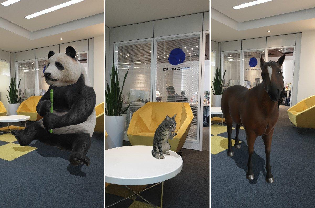 واقعیت افزوده حیوانات در گوگل