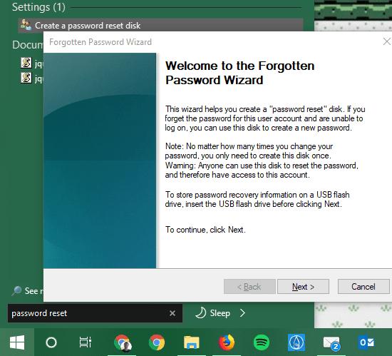 فراموش کردن پسورد ویندوز