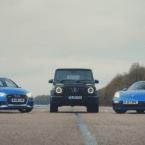 مقایسه شتاب سه خودرو متفاوت توسط TOP GEAR؛ مرسدس G Class در برابر پورشه 718 و آئودی RS3