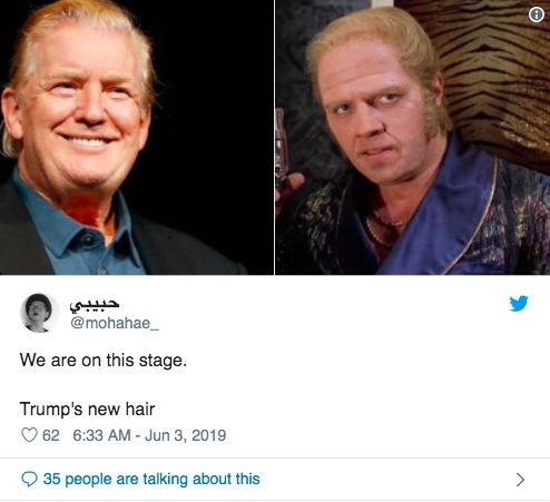 مدل موی جدید ترامپ