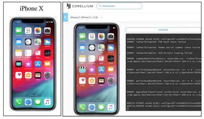 نسخه های مجازی iOS