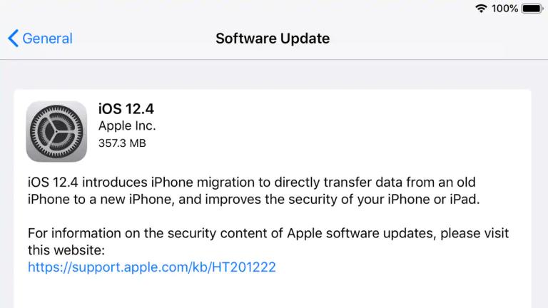 آپدیت iOS 12.4