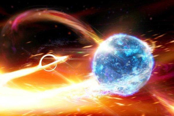 تصیور سه بعدی از برخورد ستاره نوترونی با سیاه چاله