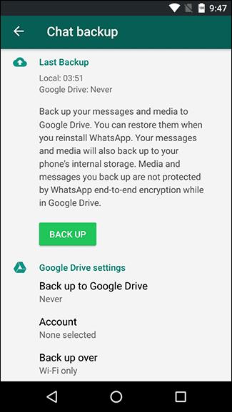 حذف پیام واتساپ
