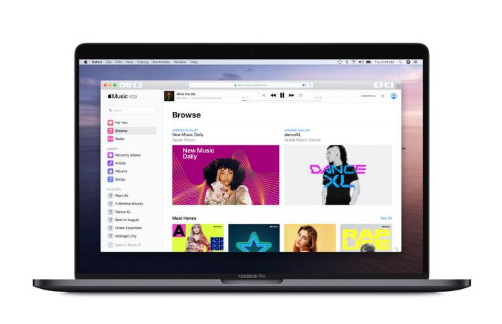 نسخه وب اپل موزیک