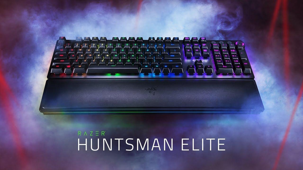 کیبورد Huntsman Elite ریزر با سوییچ های اپتیکال
