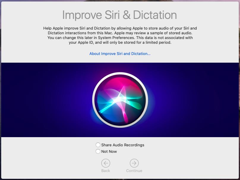 در آپدیت macOS 10.15.1 می توان ار برنامه ارسال مکالمات سیری به اپل خارج شد
