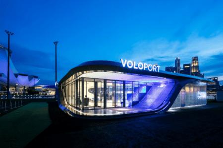 اولین طرح پایانه تاکسی هوایی ولوکوپتر به نام ولوپورت رونمایی شد