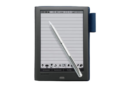 دفترچه یادداشت الکترونیکی شارپ WG-PN1 با نمایشگر 6 اینچی e-ink معرفی شد