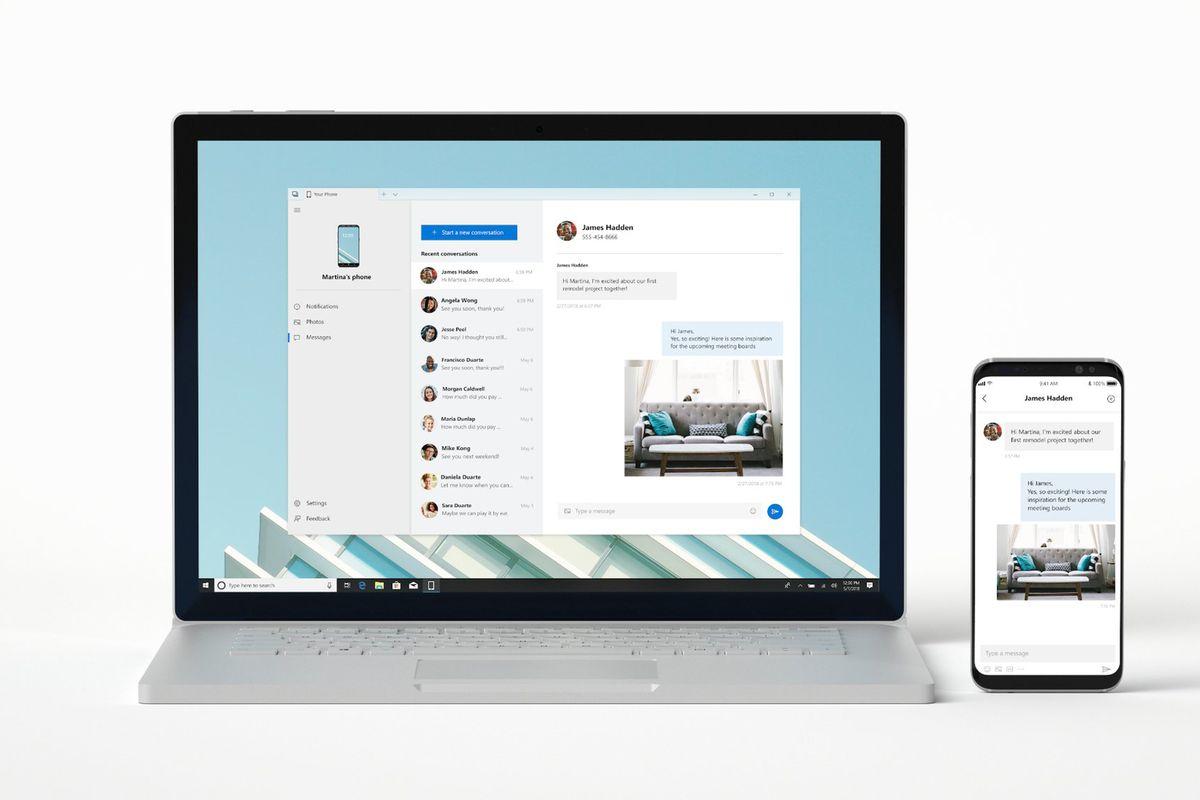 اپ your phone با قابلیت برقراری تماس به ویندوز 10 آمد