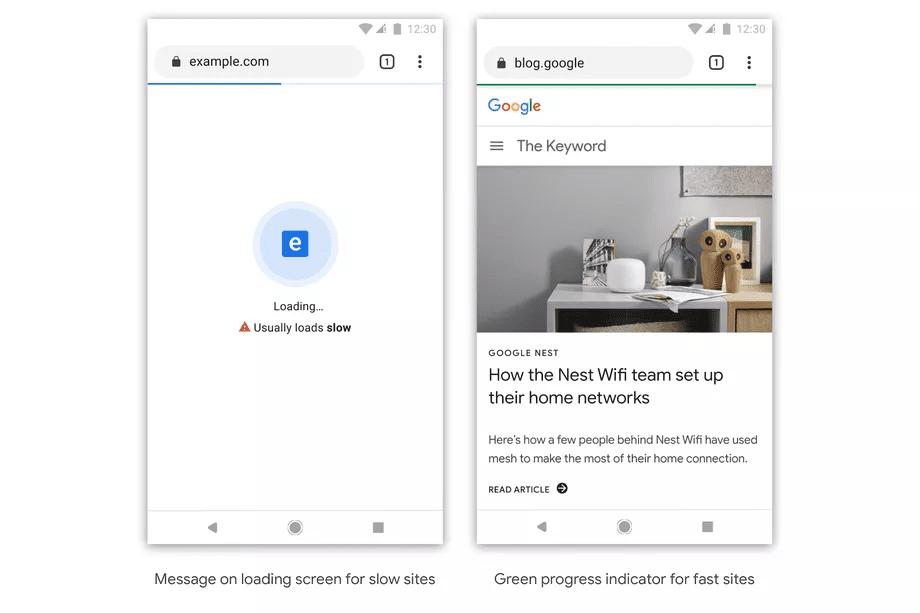گوگل در حال آزمایش طرح علامتگذاری سایت های کند در گوگل کروم
