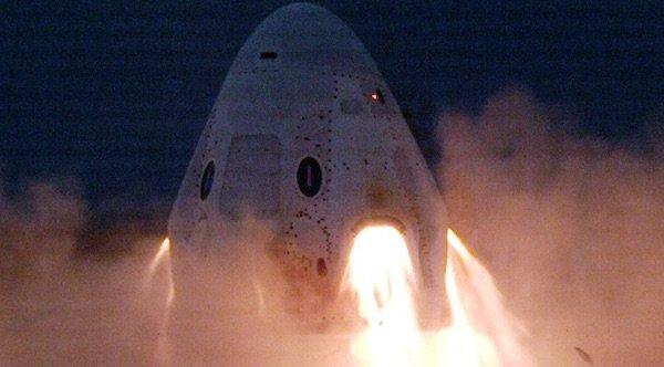 آزمایش موفق موتورهای فرود اضطراری کپسول دراگون اسپیس ایکس