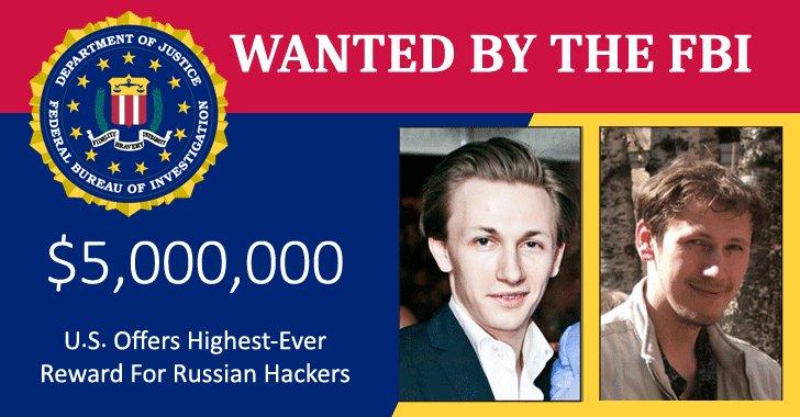 ۵ میلیون دلار؛ پاداش دستگیری دو هکر روسی گروه Evil Corp