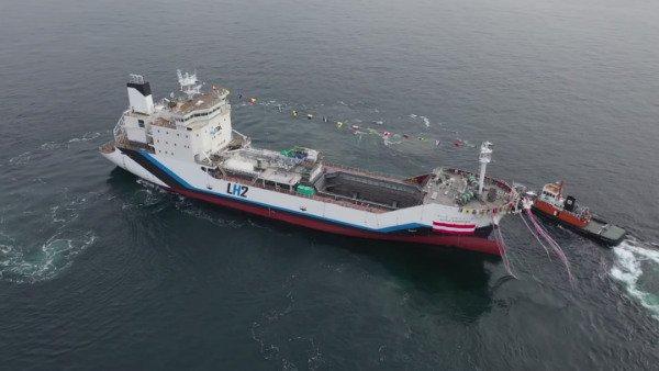 بزرگ ترین کشتی باری هیدروژن مایع دنیا به آب انداخته شد