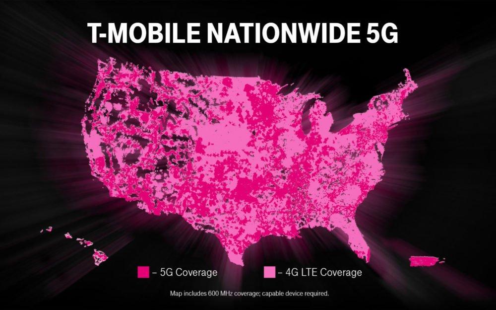 اپراتور T-Mobile اینترنت 5G را در سراسر آمریکا ارائه کرد