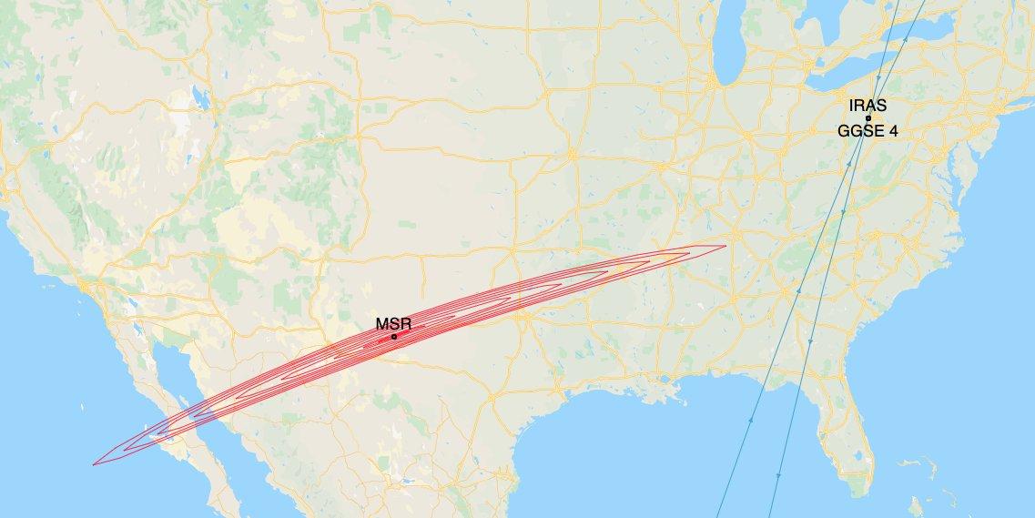 احتمال برخورد ماهواره ایراس با ماهواره آزمایشی GGSE-4