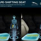 صندلی های جگوار لندرور با فریب مغز از تحلیل عضلات پا جلوگیری می کنند