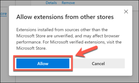 xEdge Allow Chrome