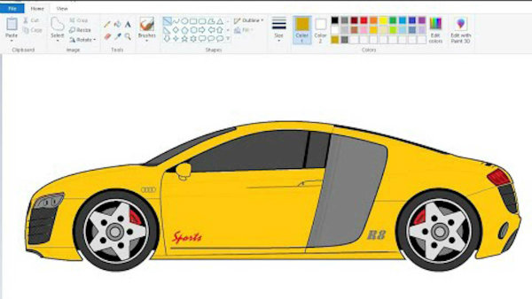کشیدن نقاشی خودرو با پینت