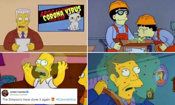 پیشگویی سیمپسون ها از شیوع ویروس کرونا