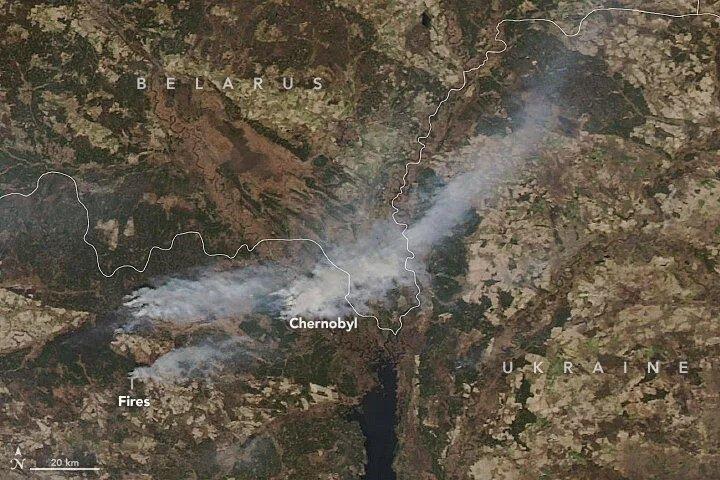 آتش سوزی در چرنوبیل