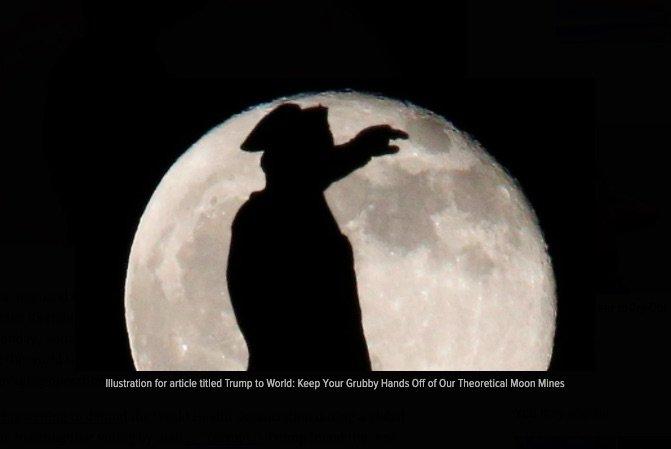 فرمان اجرایی ترامپ برای استخراج منابع ماه توسط شرکت های آمریکایی