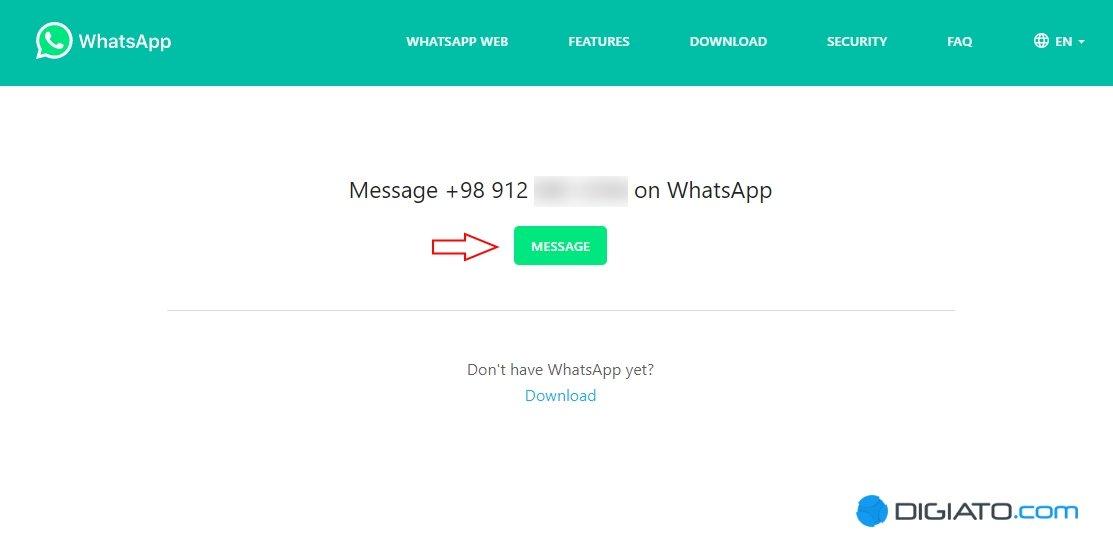 ارسال پیام به خود در واتساپ