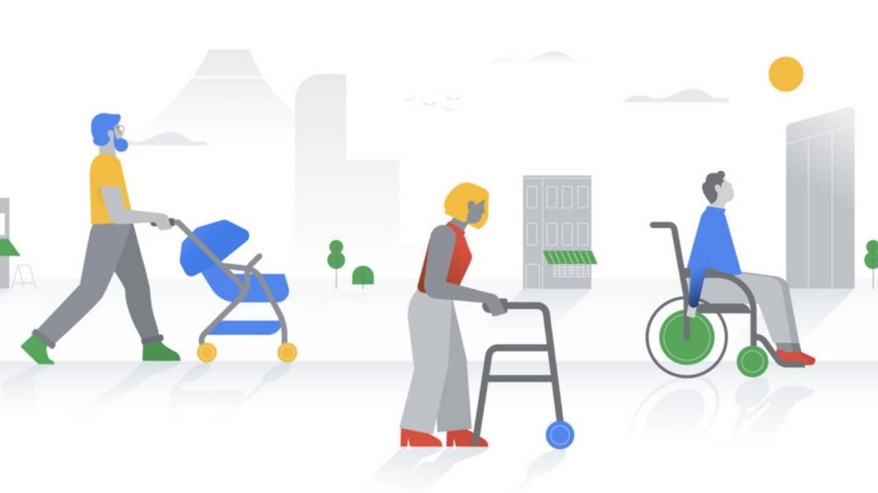 قابلیت جدید نقشه گوگل مکان های دارای دسترسی را با آیکن ویلچر نشان می دهد