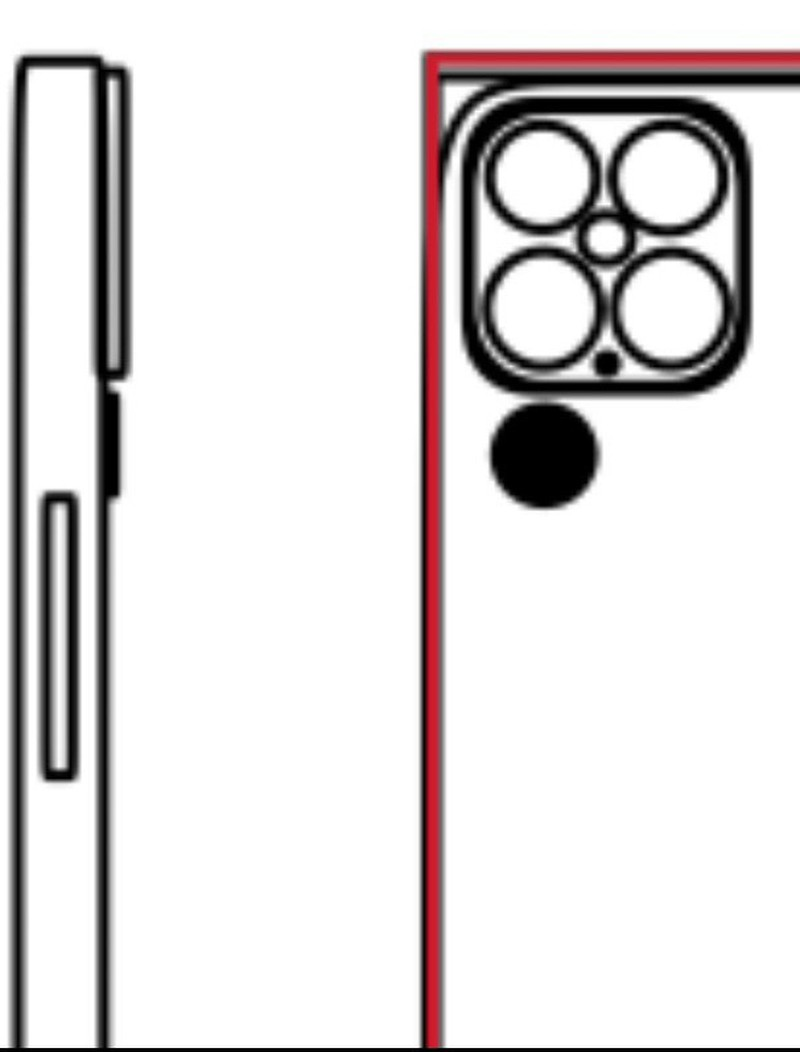 طرح احتمالی ماژول دوربین آیفون ۱۳