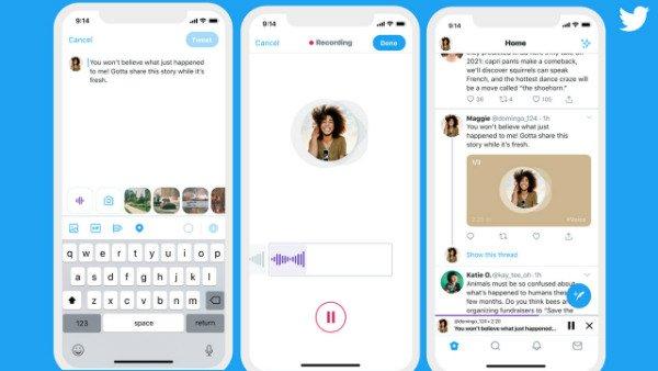 قابلیت ارسال توییت صوتی به توییتر اضافه شد