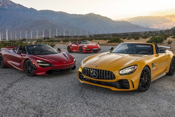 2020 McLaren 720S Spider vs 2020 Mercedes AMG GT R Roadster vs 2021 Porsche 911 Turbo S Cabriolet 8 600x400 رقابت داغ پورشه 911 توربو S، مک لارن 720S و مرسدس AMG GT R در بازار سرد صنعت خودروسازی جهان اخبار IT