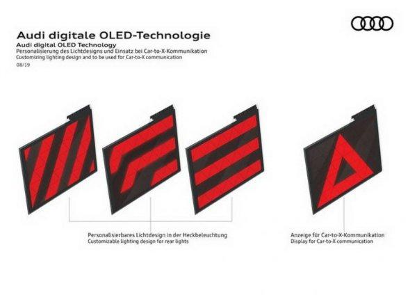 2021 Audi Q5 OLED Taillights 1 انتقال پیام از طریق چراغهای OLED؛ ایده نوین آئودی برای افزایش ایمنی [تماشا کنید] اخبار IT