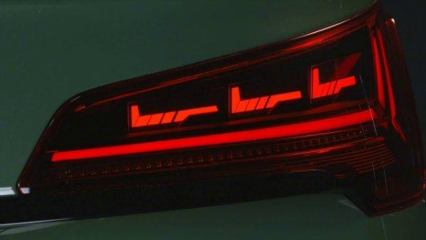 2021 Audi Q5 OLED Taillights 5 انتقال پیام از طریق چراغهای OLED؛ ایده نوین آئودی برای افزایش ایمنی [تماشا کنید] اخبار IT
